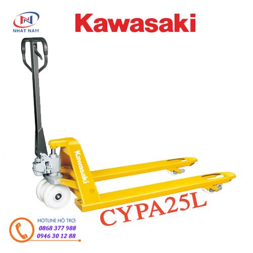 Xe nâng tay Kawasaki tải trọng 2500kg càng rộng